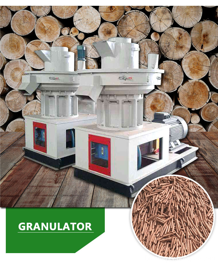 Diesel engine biomass wood pellet machine