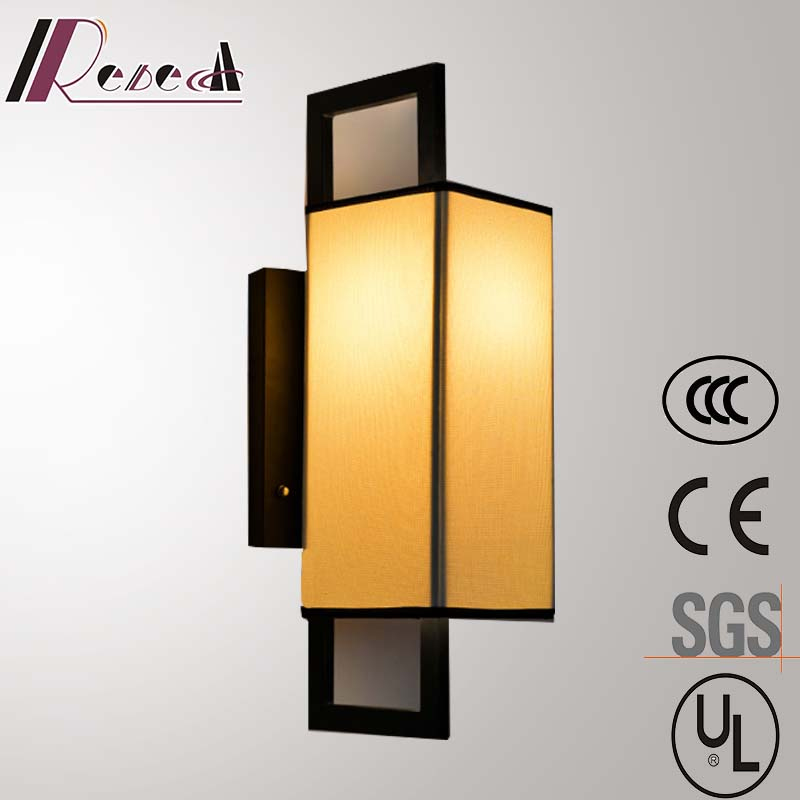 Decorative Indoor off-White Fabric Shade Porch Wall Light