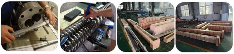 Manufacturer Bimetallic Single Concial Parallel Twin Screw Barrel for Extruder