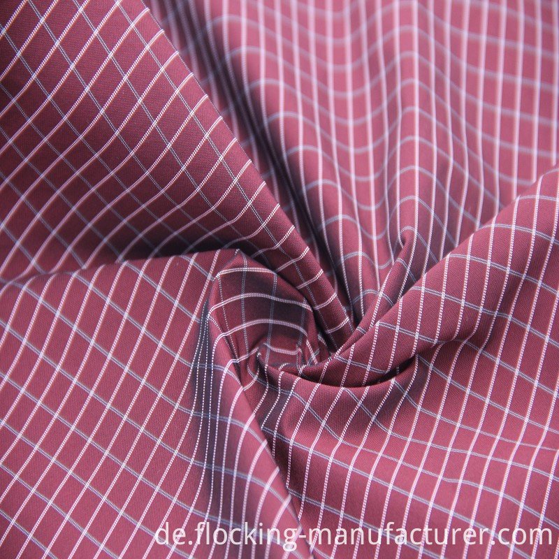 Polyester Yarn-Dyed Fabric for Men's Cloth