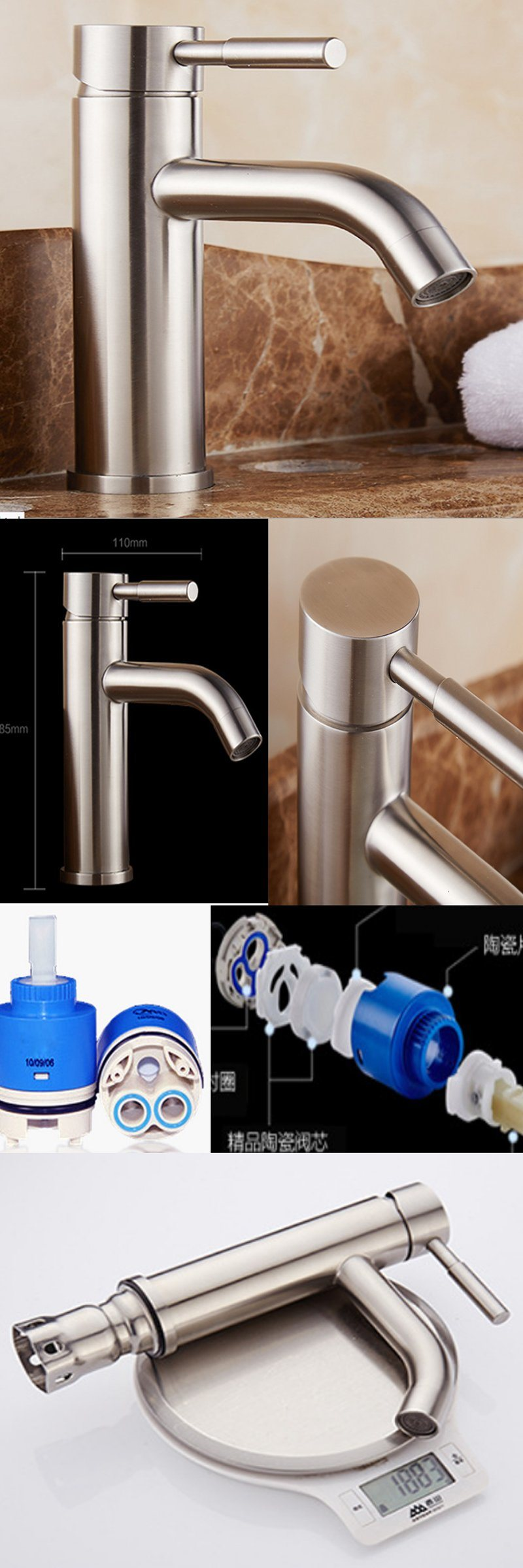 Sanitary Ware Accessories Zinc Bathroom Wash Basin Faucet Bathtub Faucet with Single Handle
