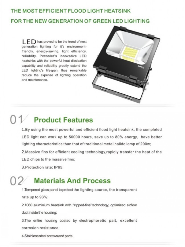 5-Year Warranty High Quality Outdoor Waterproof 220V Flood LED Lighting 100W Light