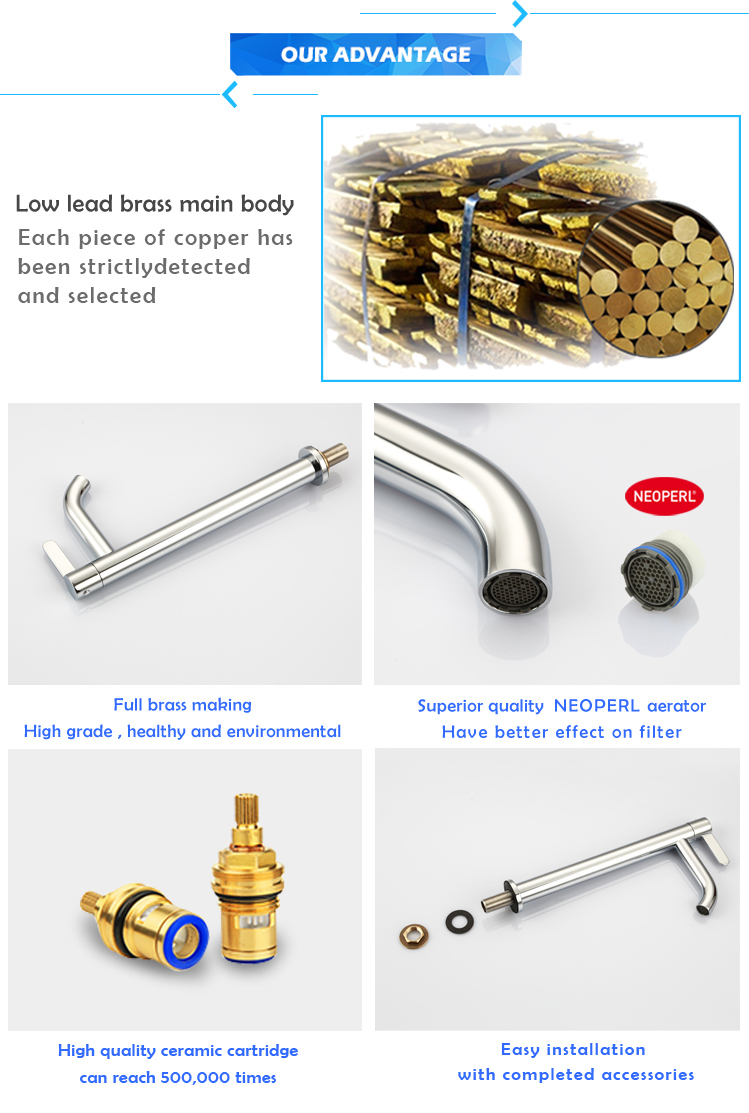 Single Lever Handle Single Stage Basin Faucet Taps Mixer From High Quality Factory