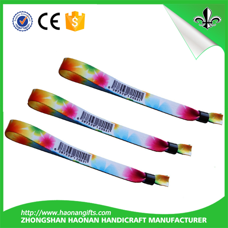 One Time Use Lock for Woven Custom Fabric Wristband