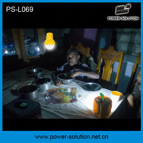 Portable Shenzhen Solar Panel with LED Light for Homes Solar Lantern with Mobile Phone Charger a Bulb (PS-L069)