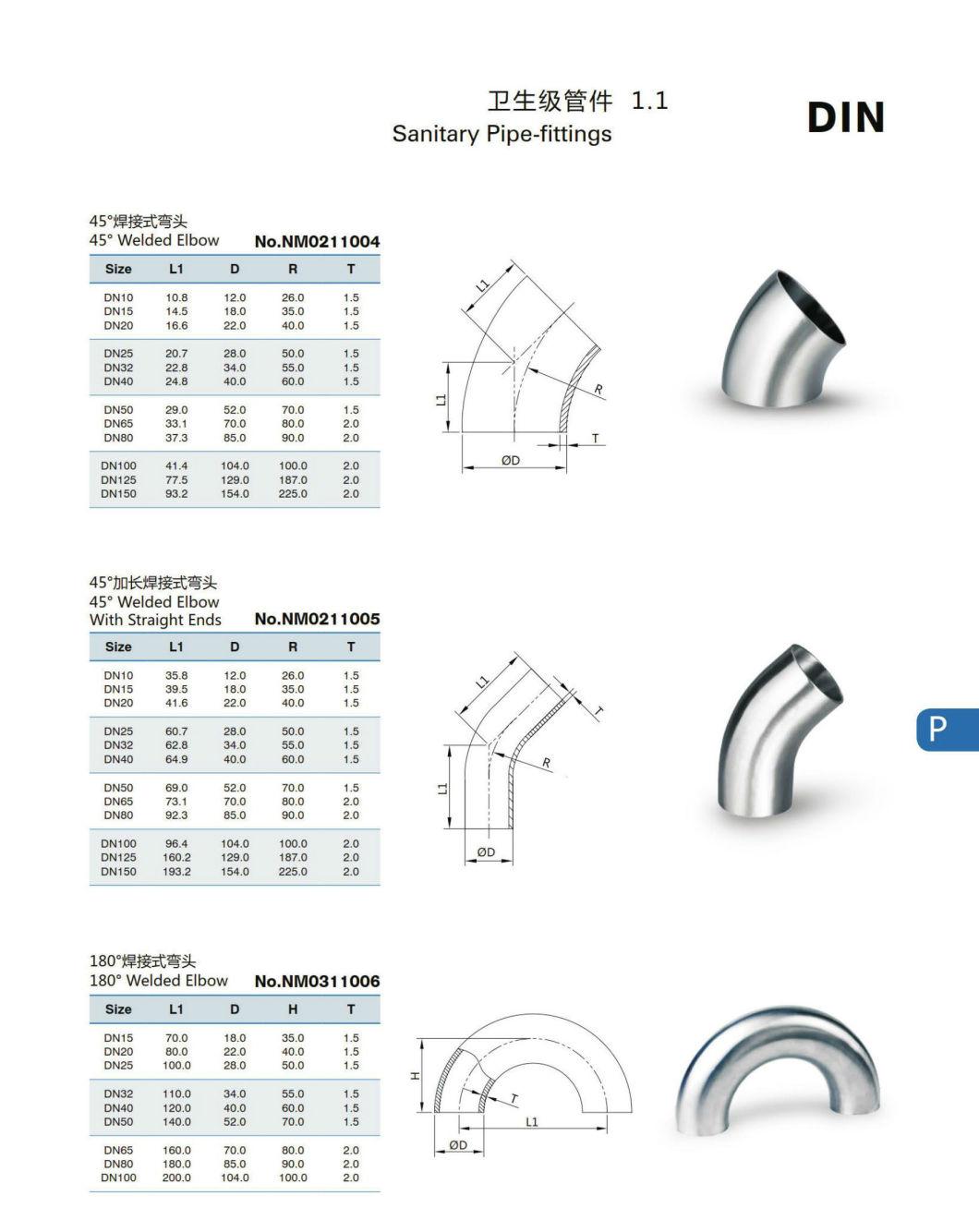 Stainless Steel Weld Cross Sanitary Pipe Fittings
