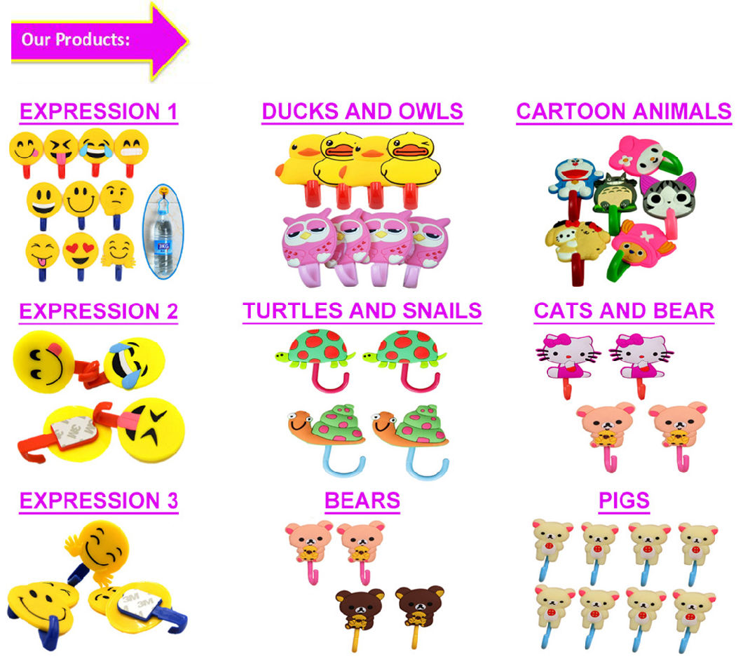 Animal Cartoon Designs Silicone Trouser Hangers with Metal Clips Decorated