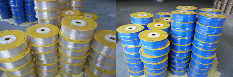 Flexible Braided PU Pneumatic Hose with Brass Fitting