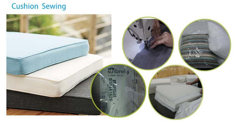 Aluminum Frame Weaving Belt Upholstered Sofa