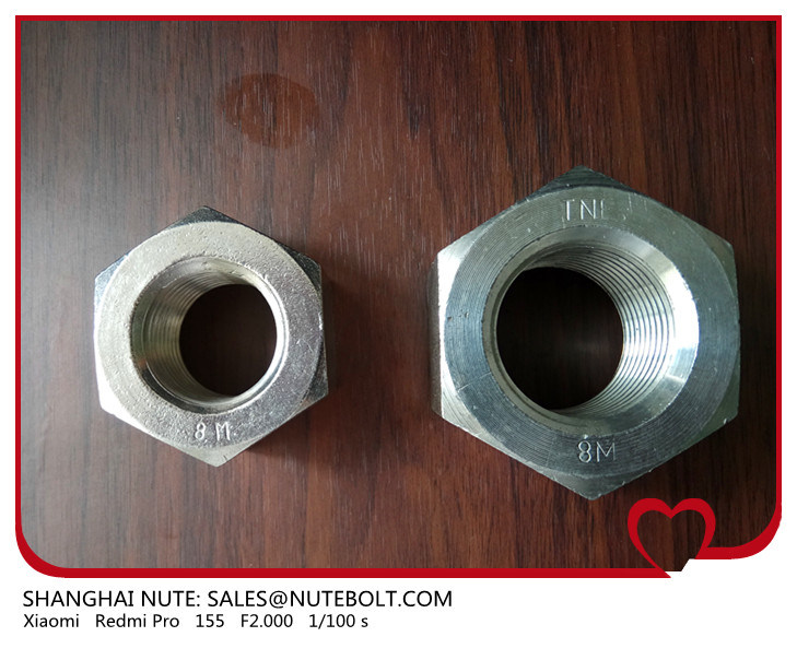 ASTM A194 2h Grade 8 8m Heavy Hex Nuts Stainless Steel 304 316, Uni5587 M4 to M48