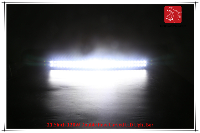 LED Car Light of 21.5inch 120W Double Row Curved LED Light Bar Waterproof for SUV Car LED off Road Light and LED Driving Light