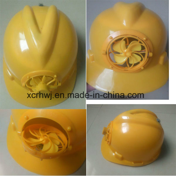 Safety Protective ABS Safety Helmet with Electric Fan, Ce En397, Safety Hard Work Helmet, High Standard OEM Work Safety Helmet with Fan