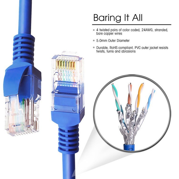 4pairs 24AWG Flat Patch Cord Network Cable