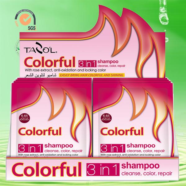 House Use Dark Brown Colorful Shampoo Hair Dye cosmetic