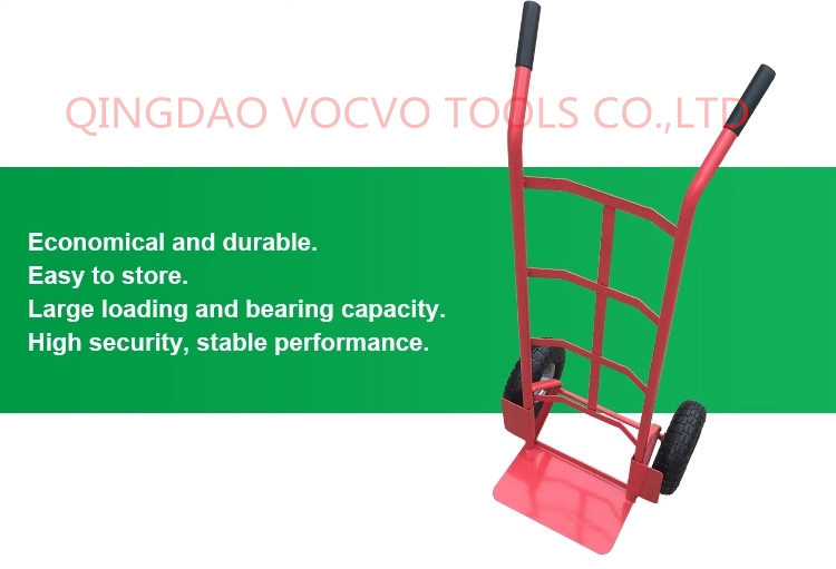 Factory Supply Pneumatic Wheel Hand Trolley for Warehouse Use