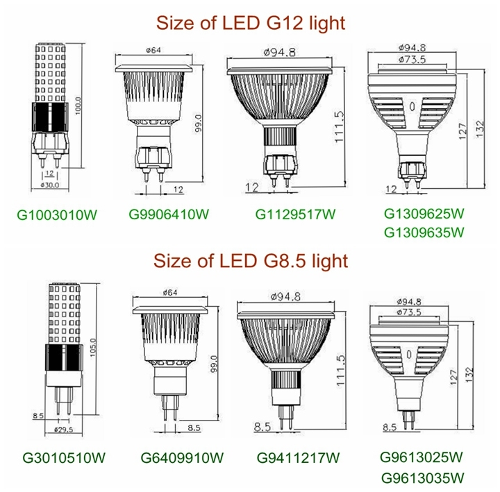20W LED G12 Light PAR 30 Light 60 Degree Bridgelux COB LED Light