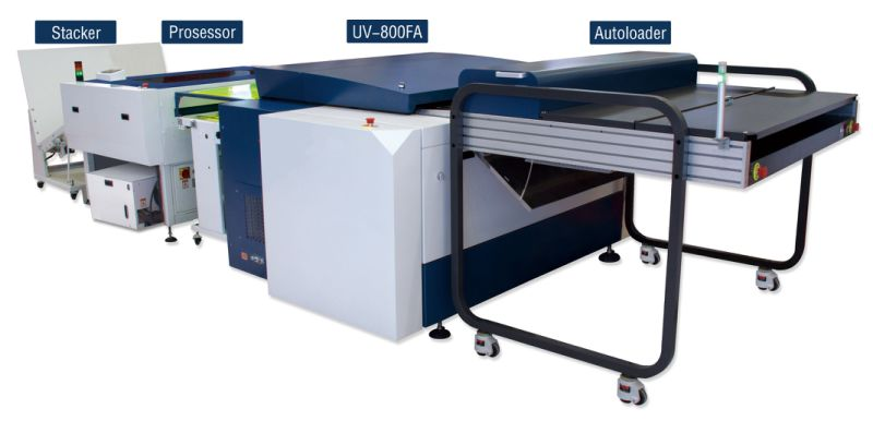Ecoographix Multi Cassette Autoloader MCU 800 for Online Platesetters