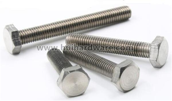 High Quality Gr2 Gr5 Titanium Hex Bolts with Full Threaded