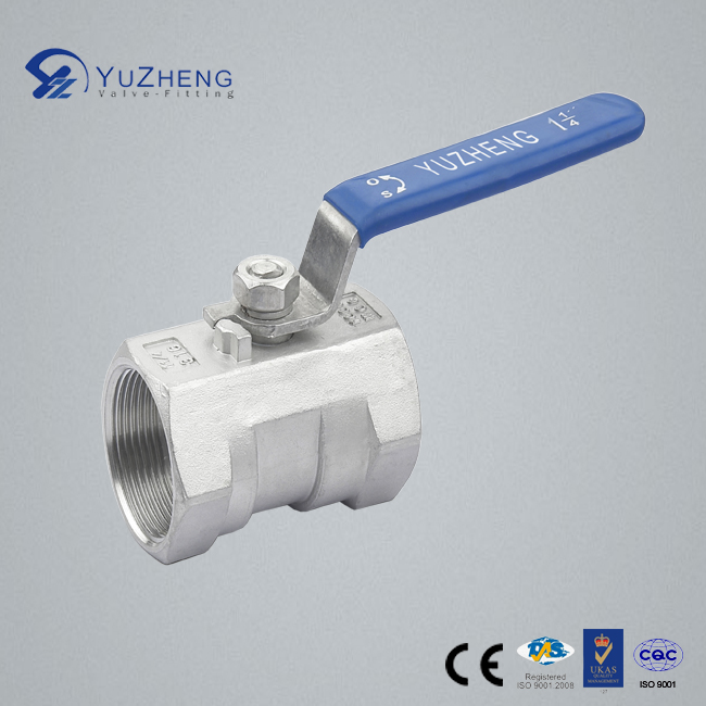 Stainless Steel 1PC Ball Valve with Lock NPT, BSPP. BSPT