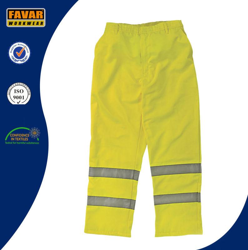 Mens Fluro Color Elasticated Waist Work Pants