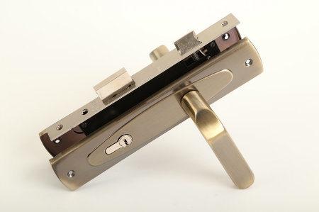 Competitive Aluminum Iron Plate Door Handle Lock (DL-001)