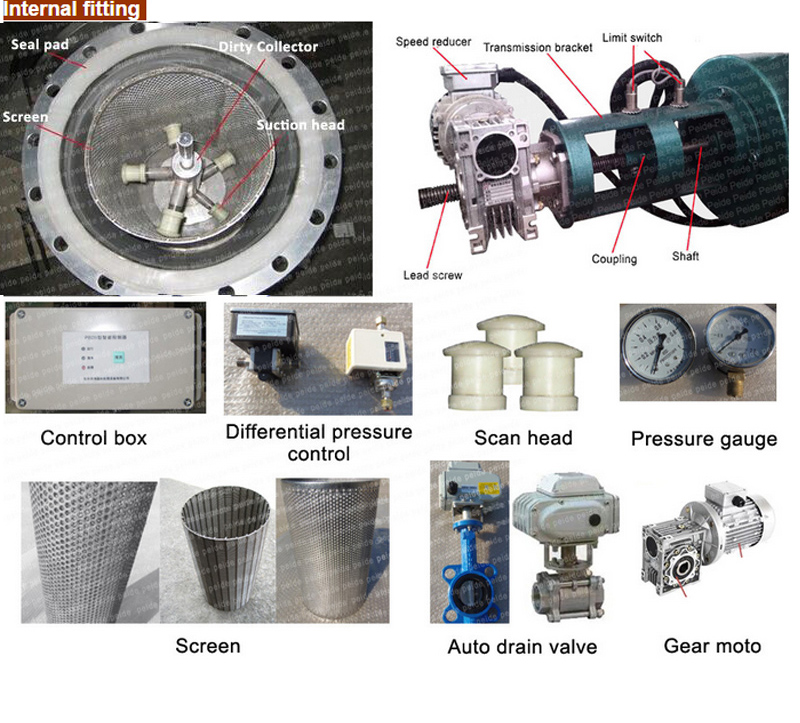 20-900t/H Automatic Screen Water Filter Machine