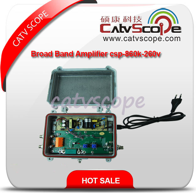 Wide Voltage 110-270V CATV K Type RF Amplifier/RF Booster Csp-860
