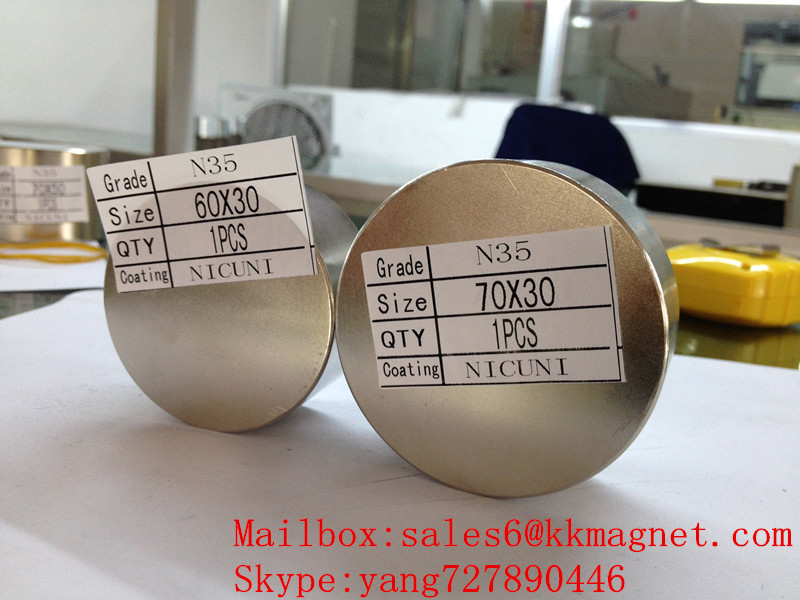 neodymium magnet water magnet 60X30 N35 60*30 N42 60*30