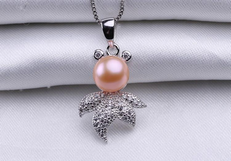 10-11mm Cute Bread Round Pearl Pendant AAA Freshwater Fashion Pearl Pendant