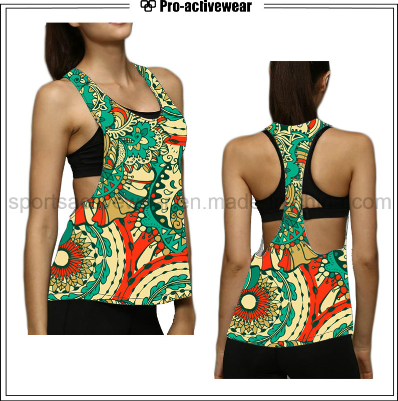 Women Colorful Open Side Activewear Wholesale Tank Top