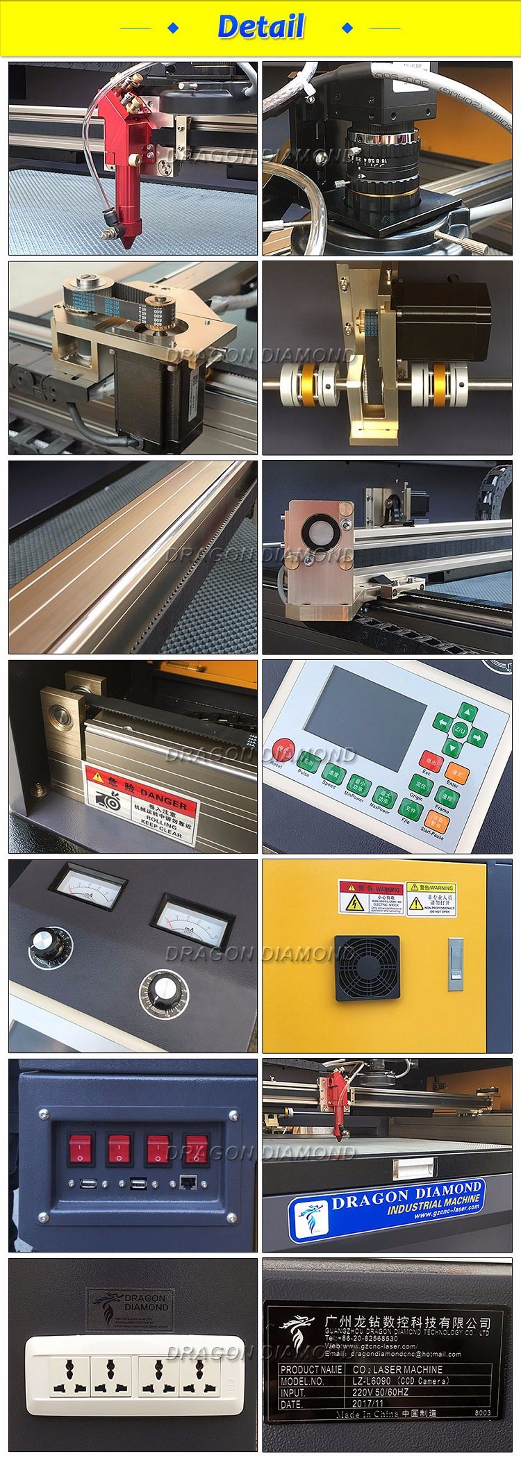 CO2 Reci 100W Acrylic CNC Laser Cutting Machine Wood Engraver Equipment with Ce