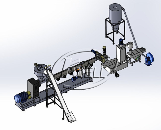 PP/PE Recycling Granulating Production Making Line/Plastic Machinery