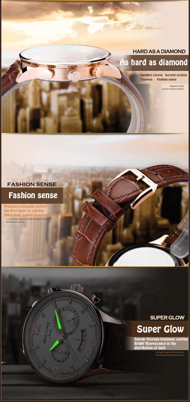 Authentic Modern Men's Quartz Watch Fashion Large Face Legend Watches Men Luxury Brand Relogio Masculino Timepieces