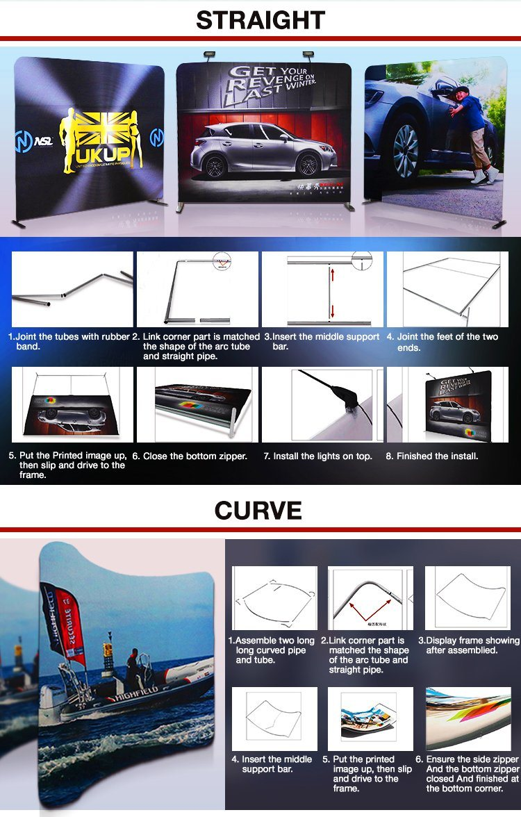 Pop up Stand Tension Fabric Display (TJ-07)