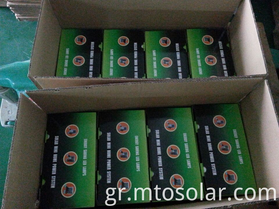 package of solar lighting kit