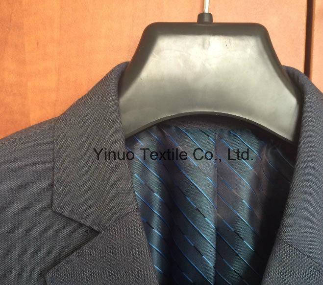 100% Polyester Super Soft Men's Suit Stripe Lining