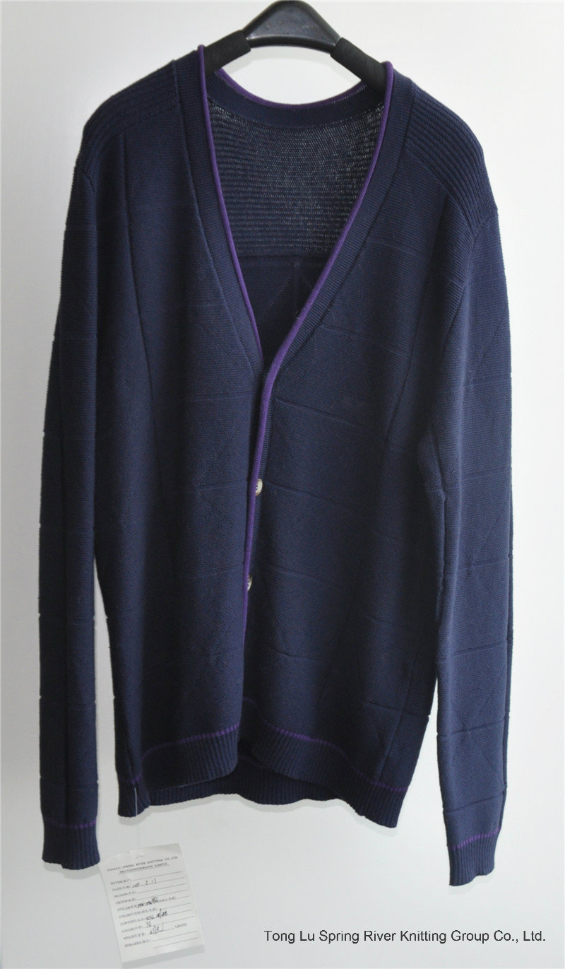 Men Winter V-Neck Knitted Cardigan Sweater with Button