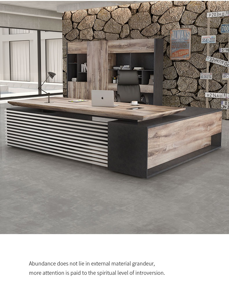 l type office table