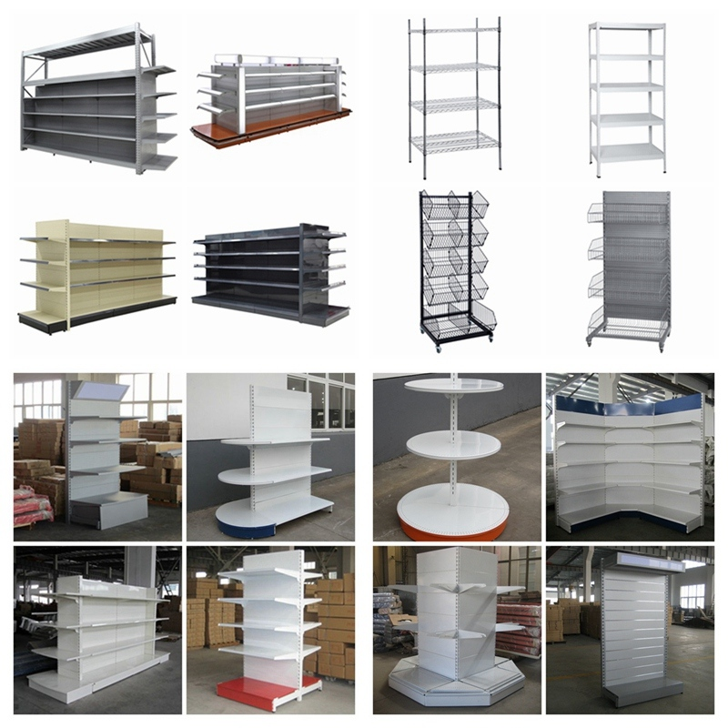Supermarket&Store Display Equipment/Metal LED Gondola Storage Shelf&Rack System