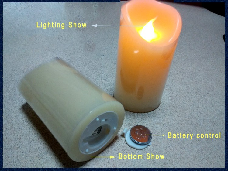 Smooth Led Pillar Candle