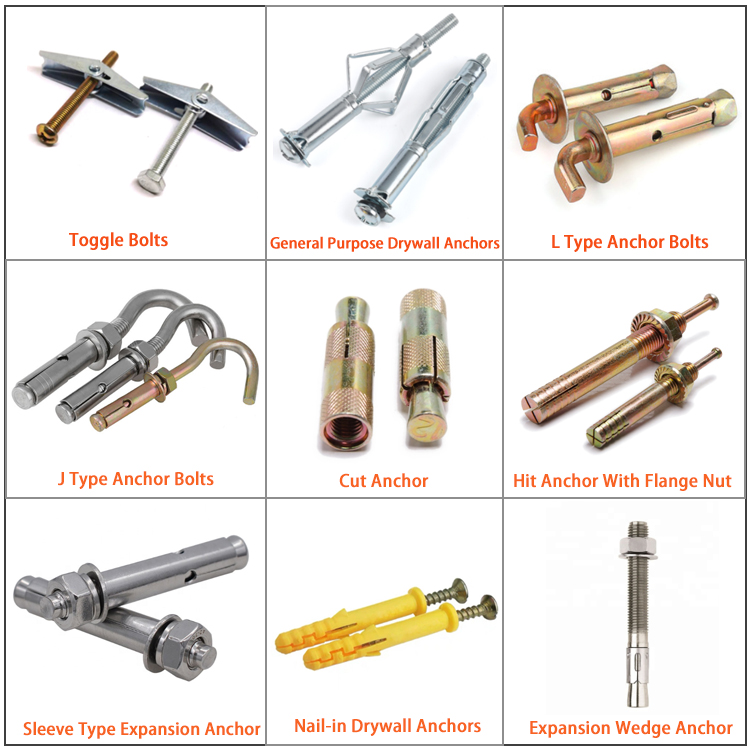 Galvanized wedge anchor Expansion Anchor Bolts
