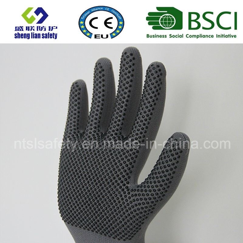 Polyester Shell PVC Dots Safety Work Glove