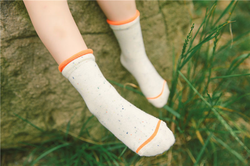 Loose Cuff Colorful Cotton Good Quality Girl Cotton Socks Competitive Price