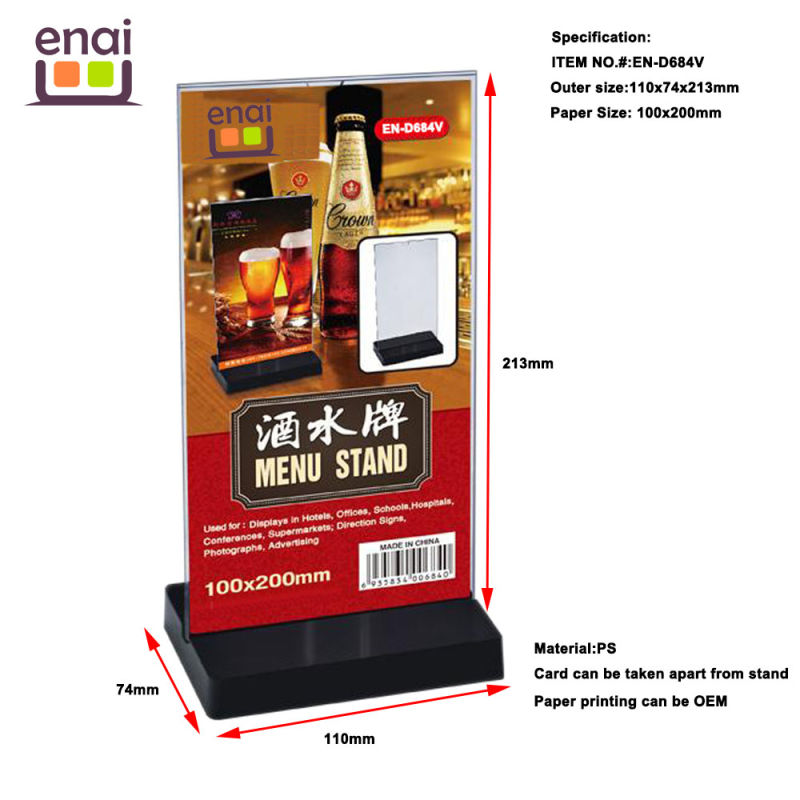 High Quality Guranteed New Menu Stand Sign Holder Card Stand