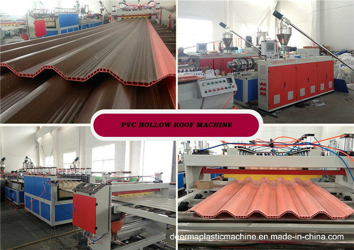 PVC Corrugated Roof Sheet Machine / PVC Roof Making Machine