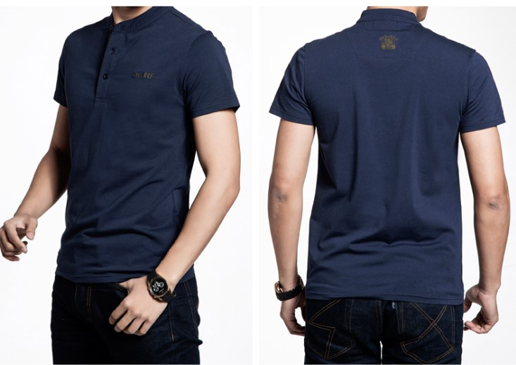 Embroidery Logo Fashion Custom Cotton Fitted Men Polo T Shirt