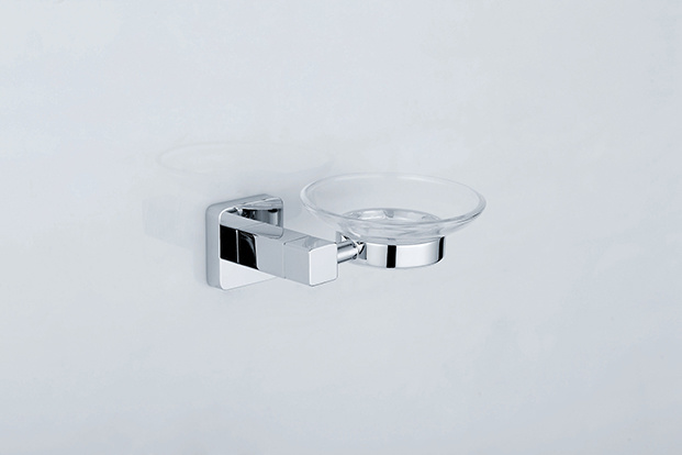 Chrome Color Soap Dish for Bathroom Set