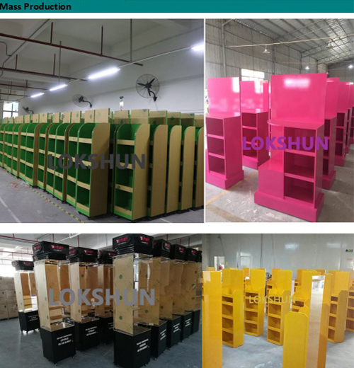 Hot Sales Wooden Exhibit Display with LED Light Platform