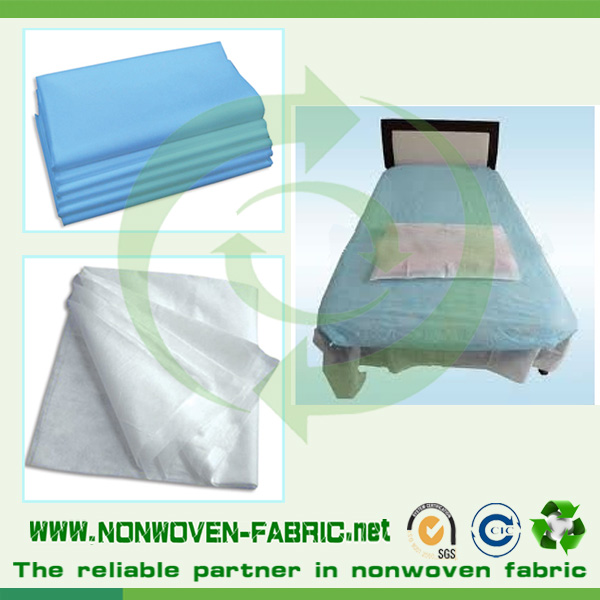 Medical Blue Non-Woven Hospital Bed Sheets