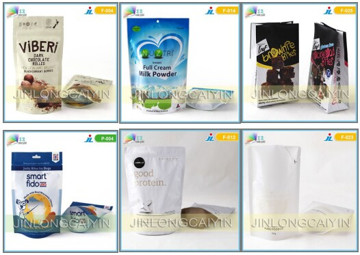High Quality Custom Printing Plastic Stand up Pouch with Zipper